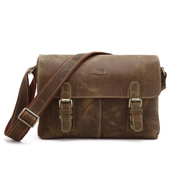 66cda615a753 ... Мужская кожаная сумка через плечо, лошадиная кожа, модель 6002B ...