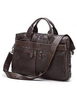 Мужская сумка кожаная, офисный вариант с отделением для ноутбука 7122 SJD
