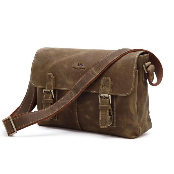 7f97750d8165 Мужская кожаная сумка через плечо, лошадиная кожа, модель 6002B ...